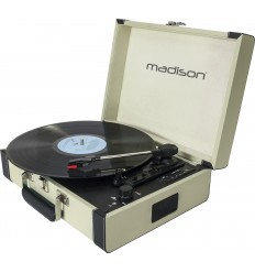 MAD-RETROCASE-CR MALETIN GIRADISCOS CON BLUETOOTH,