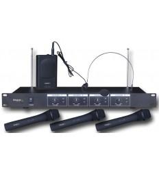 VHF4 SISTEMA DE MICRO VHF DE 4 CANALES