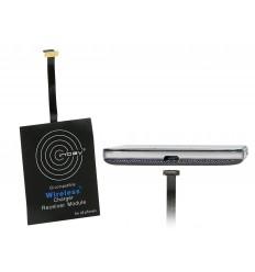Inbay Qi Receptor de carga externo micro USB lado