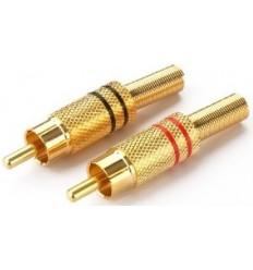 RCA Conector Macho ORO 2 piezas