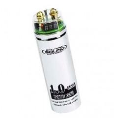 Capacitador 1F con voltimetro digital