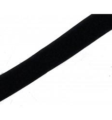 Velcro Negro Liso 20mm x 25m Precio por 1 mts.