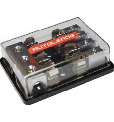 Distribuidor porta fusible AGU 4 Vías