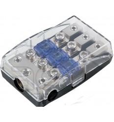 Distribuidor porta fusible 1 entr. 35mm + 2 de 20mm y 3 sal. 16mm-10mm Mini ANL