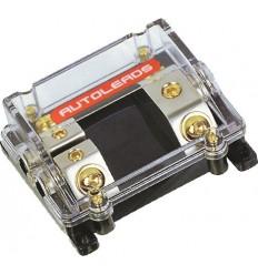 Distribuidor porta fusible 1 entr. 50mm 2 sal. 50/