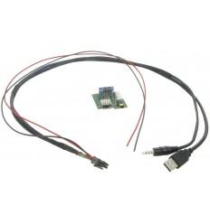 Cable extensión puerto USB-AUX HYUNDAI iX35 0913 - iX20 1013 - i40 1113 - Genesis