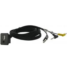 Cable extensión puerto USB-AUX OPEL Antara - Corsa 06 - Adam