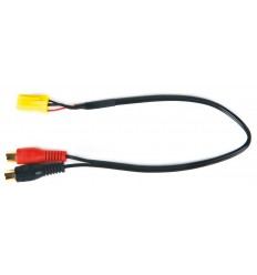 ALFA / FIAT / LANCIA / SMART 07 cable auxiliar audio Mini ISO Amarillo - RCA