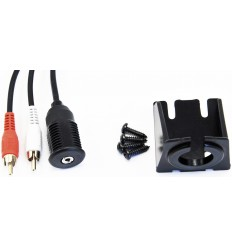 Prolongador RCA Macho Mini Jack Hembra 3.5 0,75 mts. empotrar + soporte